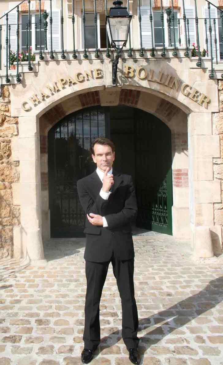 President Gunnar Sch�fer from James Bond 007 museum at the  Bollinger Champagne House 2008-09-08
