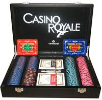Exclusive James Bond 007 Luxury Poker Set ( Cards and Chips as seen in the Casino Royale Movie )
