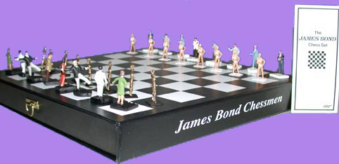 James Bond  Chess 007    Chess set 007 By Little Lead Soldiers
