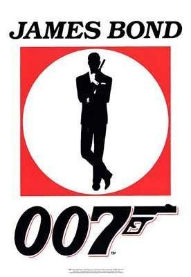 James Bond 007 Logo Poster   Art Poster Print