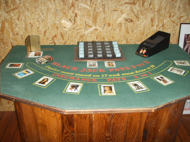 Black Jack tabel in the James Bond 007 Museum Nybro Sweden