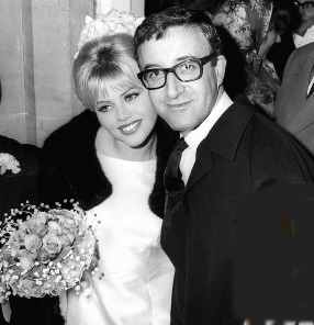Britt Ekland Swedish Model with Her Fomer Husband Peter Sellers also Bond actor in Casino Royale 1967