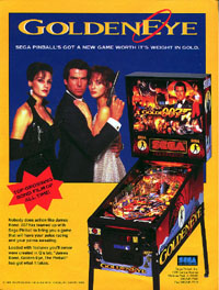 GoldenEye from the movie Pinball Shooting system to test out your shooting skills.