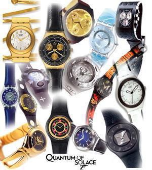 SWATCH   James Bond 007 40th Anniversary Collection! 1962-2002
