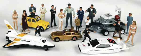 James Bond 007 Car Collection Models Aston Martin Mustang Chevrolet Citroen