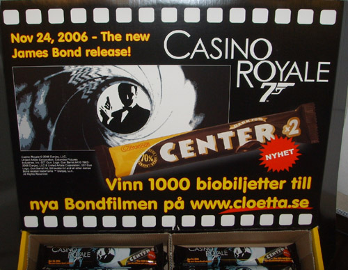 Cloettas Center Dark 70% Choklad Casino Royale James Bond