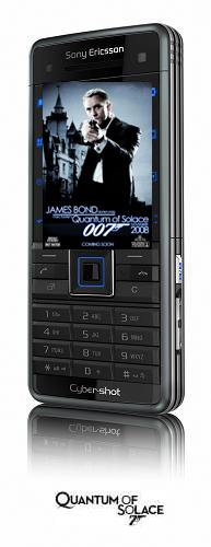 Sony Ericsson  new  James Bond mobile phone from Quantum of Solace C902 Cyber-shot phone.  Sony Ericsson/MGM.