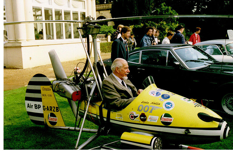 Autogyro Little Nellie with its creator and pilot, Ken Wallis Kenneth Horatio Wallis Little Nellies father