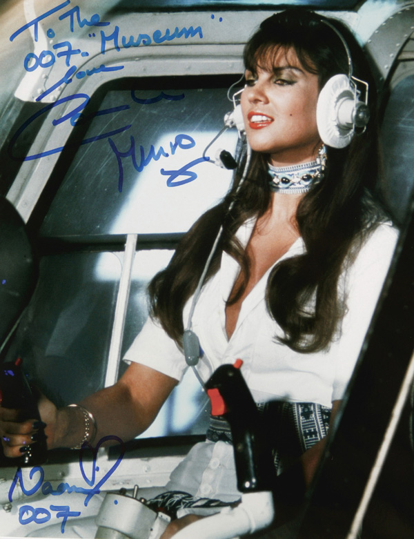"To The 007 ""Museum"" from Caroline Munro Naomi love 007"