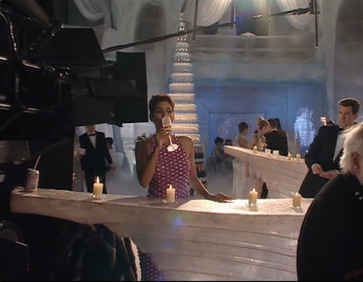 Halle Berry with Bollinger champagne Die Another Day 2002