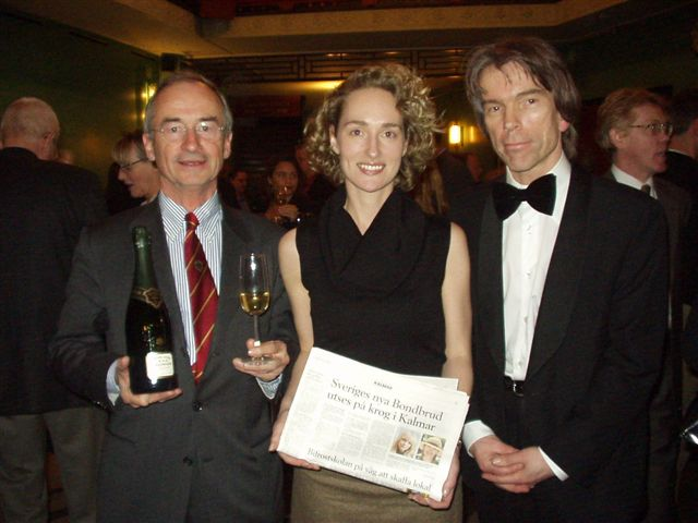 President Champagne House Bollinger Ghislain de Montgolfier  and James Bond Gunnar Schäfer with  Anette from Arvid Nordquist