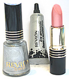 Revlon 007 Collection Comprising of Super Lustrous Lipstick ( Silver City Pink), a Revlon Nail Polish ( Diamonds are Forever) and a Eye Shadow ( Diamonds are Forever).