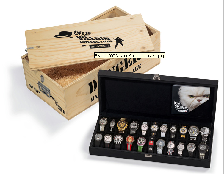 Swatch 007 Villain Collection Wooden Box