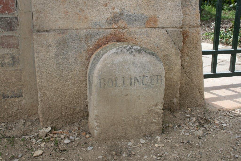BOLLINGER STONE FROM CHAMPAGNE HOUSE IN AY FRANCE
