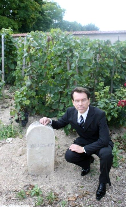 BOLLINGER STONE FROM CHAMPAGNE HOUSE IN AY FRANCE  JAMES BOND