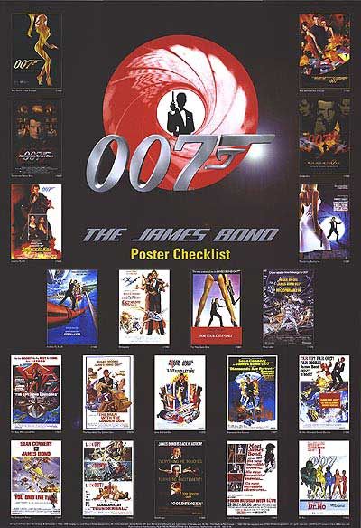 Original James Bond Posters Affischer 1962 2016