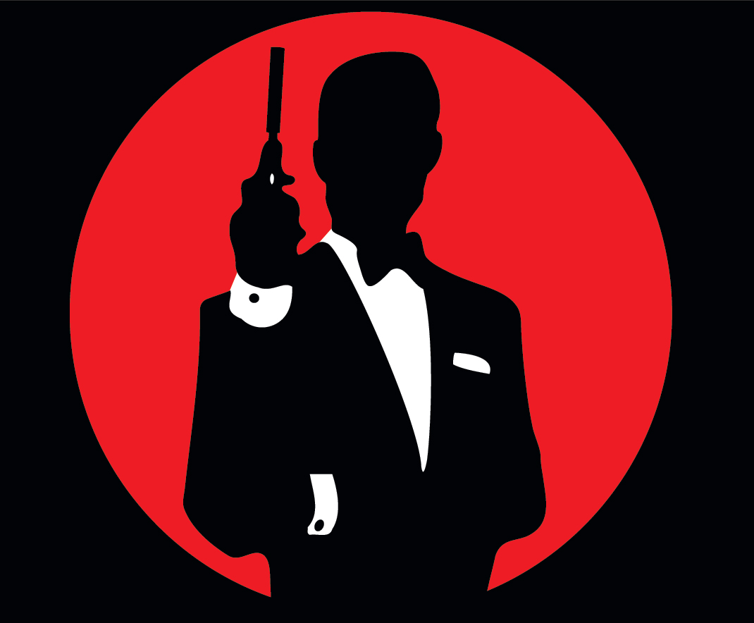 Pin James Bond 0...007 Logo White