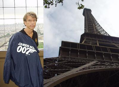 "James Bond Gunnar Sch�fer i Paris i Eiffeltower from ""A View To A Kill"""