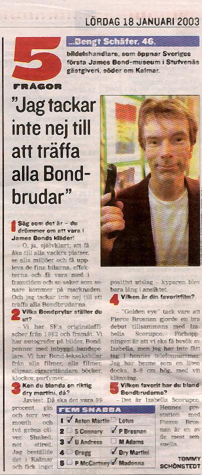 James Bond alias Gunnar Schäfer