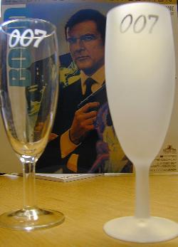 007 design glass from James Bond museum