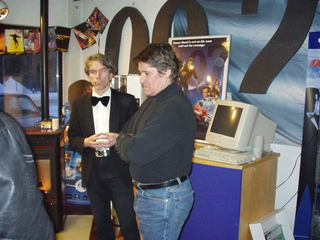 LICENCE TO KILL 1989 Lars Lundgren with James Bond Gunnar Schäfer in The James Bond 007 Museum Nybro Sweden