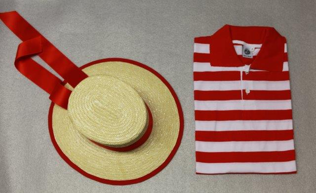 Hat Venetian gondolier. Äkta Gondolier hat som används i Venedig av ... 56c61f1c8