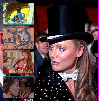 Magda Played by: Kristina Wayborn. Magda appears to be one of Kamal Khan's henchman after she sleeps with Bond and steals the Faberge Egg. However, it is later revealed that she is in fact a member of Octopussy's Traveling Circus and helps lead the attack on Kamal Khan's palace during the film's finale.