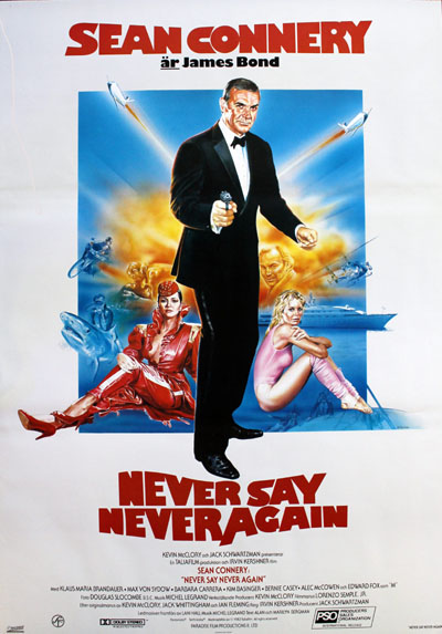 """Never Say Never Again"" 1983 Svensk original poster"