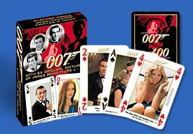 PCO176 007 cards featuring 52 original pictures of James Bond from films 1 - 10