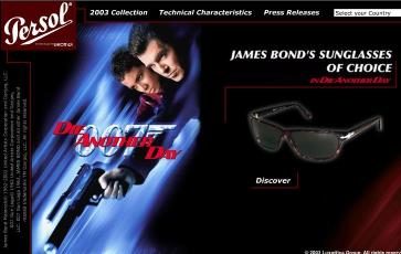 "JAMES BONDS SUNGLASSES OF CHOICE ""DIE ANOTHER DAY"""