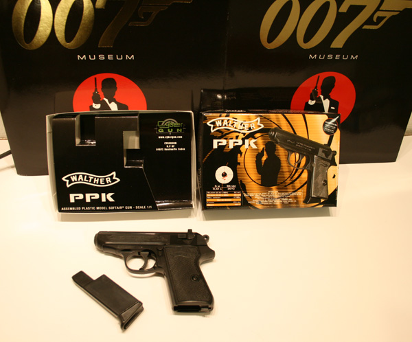 Walther PPK 7 62 mm and James Bond Walther P99 Gun with Silencer