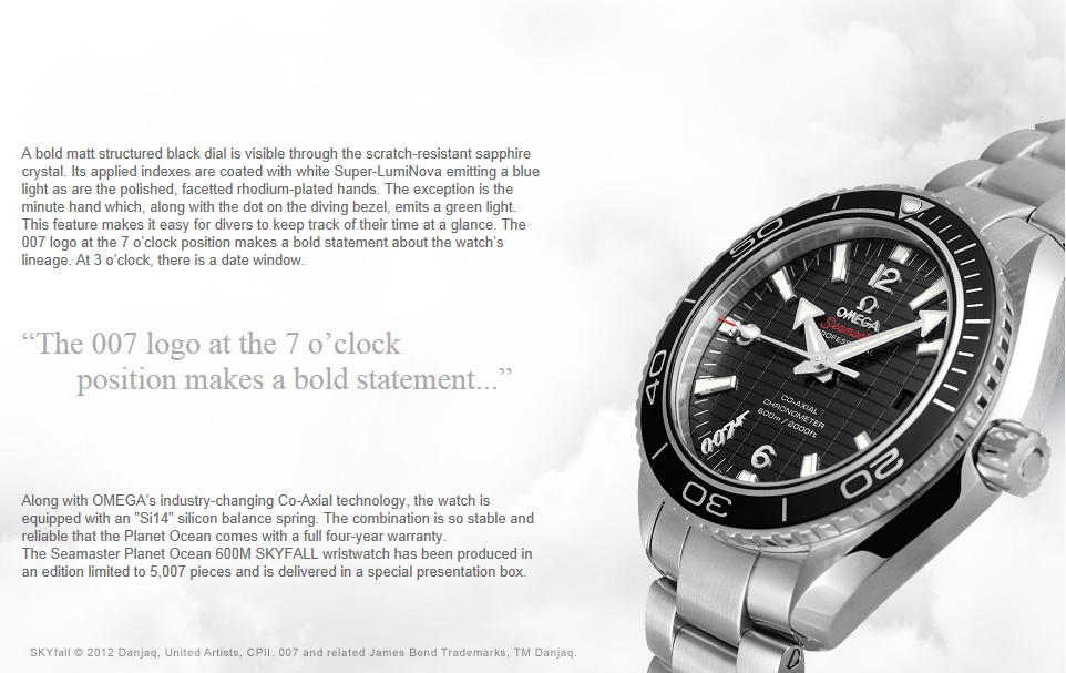 Omega Seamaster Planet Ocean 29005091  Bond Lifestyle