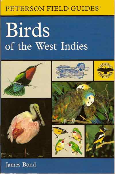 Birds of the West Indies is known not only for its exhaustive study of Caribbean birds, but also for its author, whose namesake became famous as the fictional Agent 007 of Her Majesty's Secret Service. The name of the book's author, the ornithologist James Bond, was used by Ian Fleming for the name of his popular British secret agent, Commander James Bond.