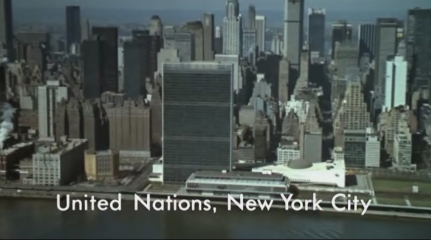 United Nation New York City from James Bond movie Live And Let Die 1973